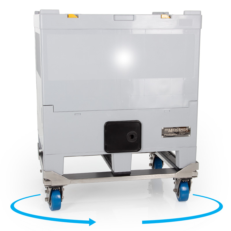 200 L FlexStation® Rigid Outer Container with Cart