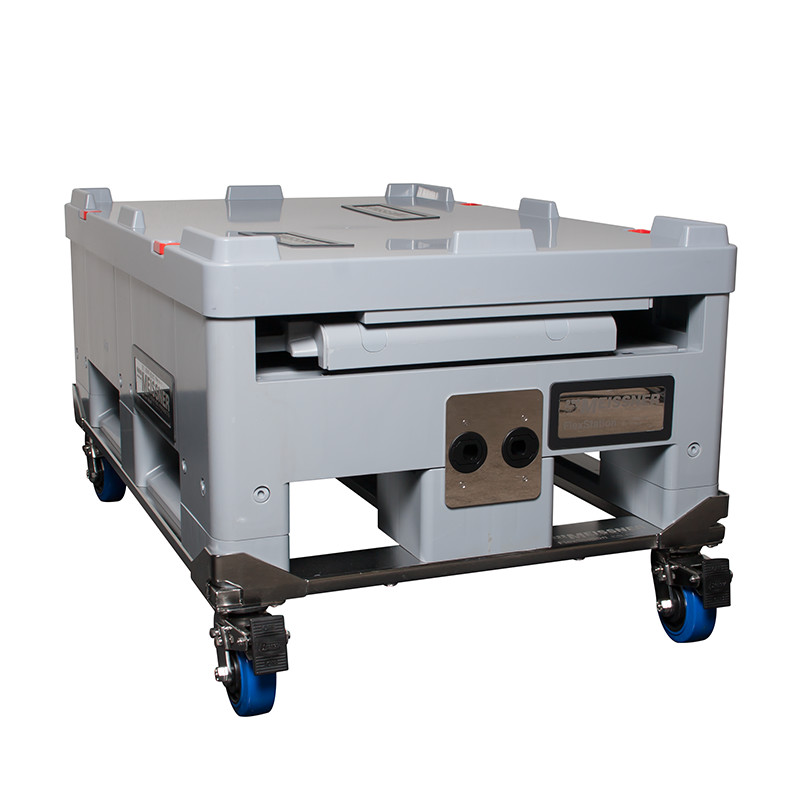500 L FlexStation in Collapsed Configuration on Cart