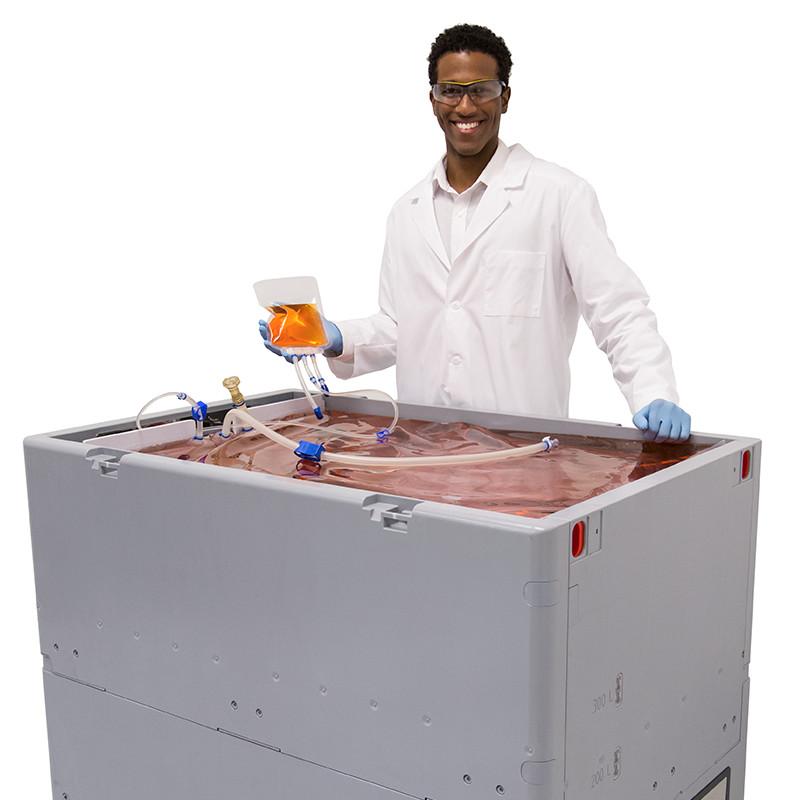 50 mL TepoFlex Biocontainer Into a 500 L TepoFlex Biocontainer With 500 L FlexStation