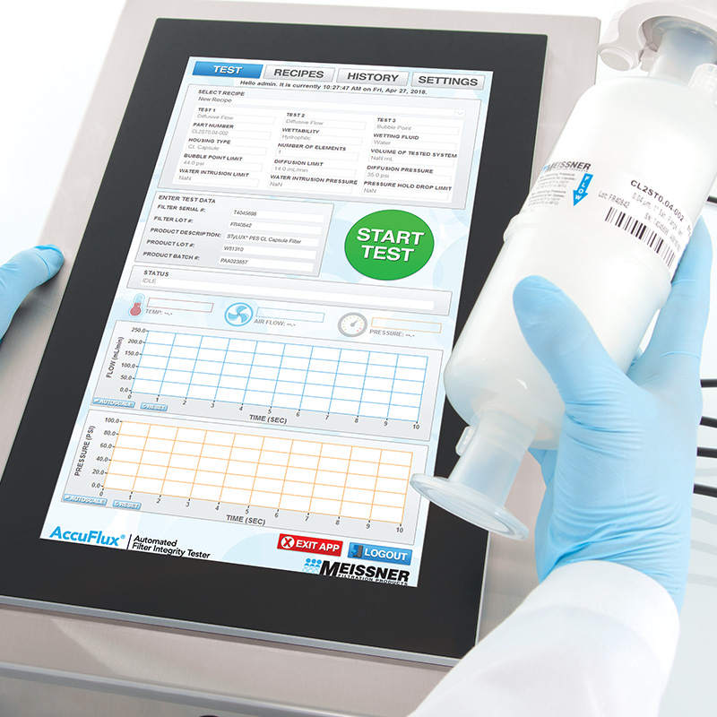 Using an AccuFlux Filter Integrity Tester