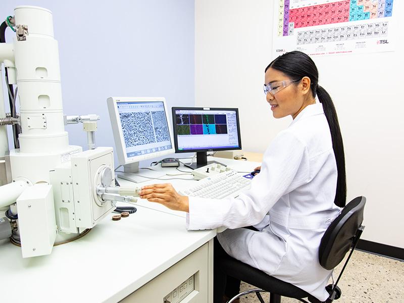 Scientist Using the SEM