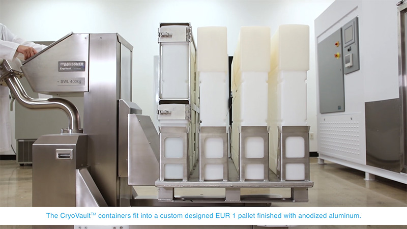 CryoVault Large Scale Freezer Loading